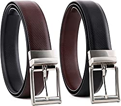 Sortitio Men's Black & Brown Pu Leather Reversible Belt(Pack Of 1)