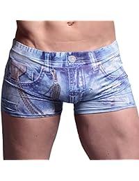 Homme Sous-Vêtements Hommes Boxer de Charme Culottes taille - S M L XL- Bleu
