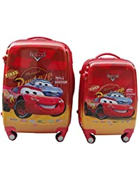 CLOUD 9 BOYS FAMOUS CARTOON CHARACTER PRINTED KIDS TROLLY BAG SET OF 2 {22 INCH AND 18 INCH}…red COLOR