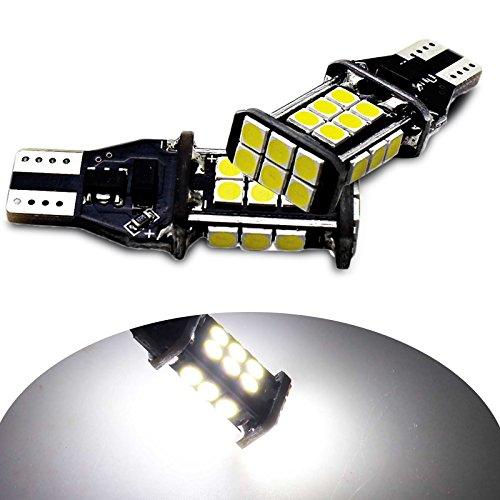Yaagoo 2PCS chipset 30301000Lumen molto luminoso Canbus senza errori T10T1592191224SMD LED lampadine per luci di retromarcia di backup, Xenon bianco 6000K