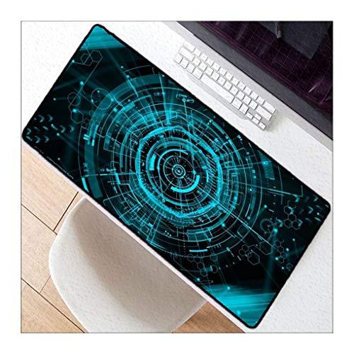 JUNHONGZHANG Kreatives Muster des grünen Ringes Übergroße Mauspad Rutschfeste Gaming-Gummiauflage für Home Office Internet-Cafés,30x80cm