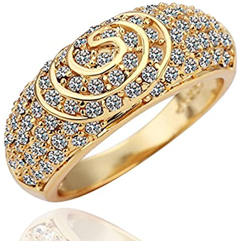 Kola 18K selling crystal champagne Korean jewelry fashion couple rings in Europe and America - Kola Champagne