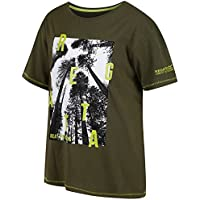 Regatta Bosley - Camiseta de Manga Corta para niño, Infantil, Color Ivy Green, tamaño Talla 5-6