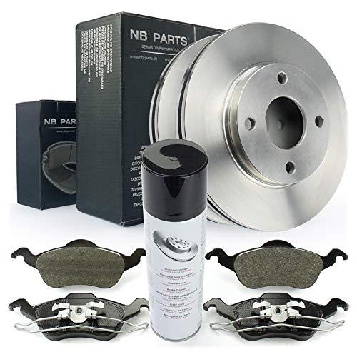 Bremsscheiben + Bremsbeläge vorne + Bremsenreiniger NB PARTS GERMANY 10046387