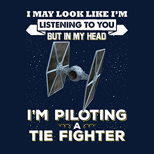 I May Look Like Tie Fighter Star Wars Men's Vest Navy Blue