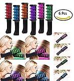 Vianber Temporäre Haarfarbe Kamm, waschbar 6 Farben Safe Dye Haar DIY Sets für Mädchen für Anzieh und Party Cosplay
