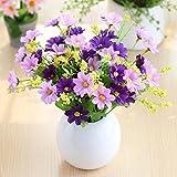 Jnseaol Kunstblumen Sehr Realistische Keramik Topf Künstliche Blumen Hochzeit Party Küche Familie Garten Fensterbank Dekoration Diy Topfpflanzen Lila-15