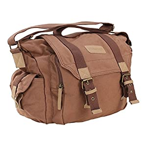 6ab17e15e9 Voilamart multifunzionale portatile tela impermeabile borsa custodia per  fotocamera digitale SLR/DSLR fotografia outdoor borsa da viaggio a tracolla  con ...