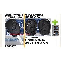 G.M. Production - REN6007+2SW14 - Guscio cover chiave DACIA solo lato tasti +2 Switch ricambio [controllare foto e dettagli compatibilità]