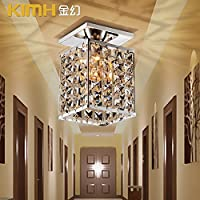 Lights CC Crytal luce lampLedCeiling piazza moderna-foro lampada Lampade corridoio minimalista lampada balcone Hyun spegnere le luci cucina luci,130*130*210mm
