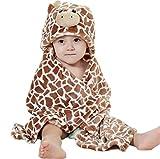 Feelme Accappatoio in pile con cappuccio per neonato