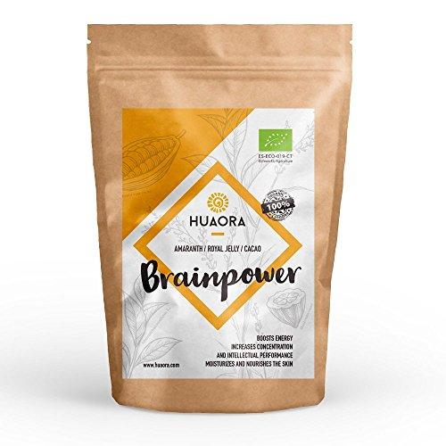 Huaora Brainpower - Amaranto, Jalea Real, Cacao, Azucar de Coco - Proteínas y minerales que...