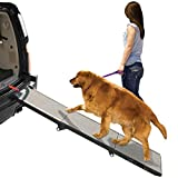 Pet Gear PG9300DR Tri-fold Pet Ramp,Black/Gray, not carpeted