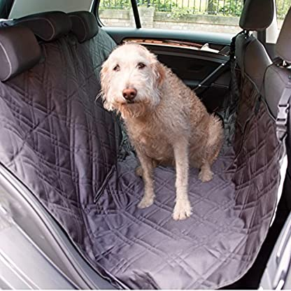 Dog Car Seat Cover Set, Waterproof, Non-Slip Hammock with Storage Pocket, 2 x Bowls, 2 x Pet Seat Belts, Adjustable… 3
