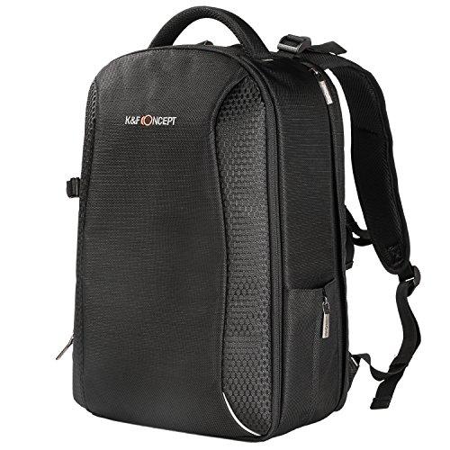 K&F Concept Kamerarucksack Fotorucksack für Canon Nikon Sony SLR-Kamera und 14 Zoll Laptop aus wasserabweisendem Nylon(inkl. 5 in 1 Reinigungsset) Sony 14-laptops