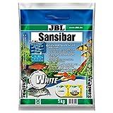 JBL Sansibar Substrat de Sol Naturel pour Aquariophilie Blanc 5 kg