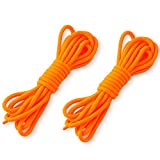 Jiayiqi 0,8m Runde Gewachste Designer Kleidschuh Schnürsenkel Orange Mit Pvc Tips 2 Paar