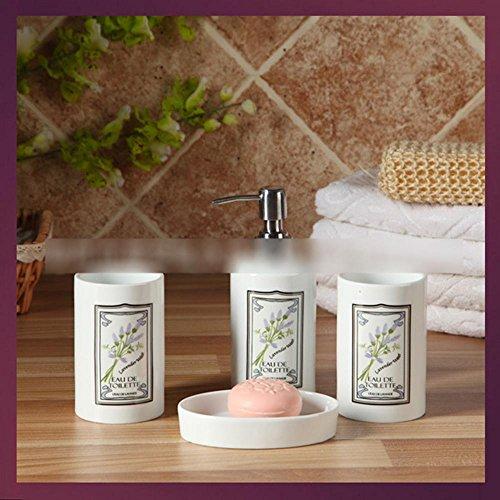 Z@SS Classics Keramik Bad und Waschtisch-Set Badezimmer-Zusatz 4pcs (Classic Zahnbürste-halter)