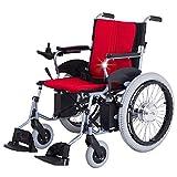 Sedia a Rotelle Elettrica Pieghevole Leggera per Anziani Disabili Sedia a Rotelle di Aiuto alla Mobilità Compatta Carrozzina per Trasporto Scooter,Hbld3e20