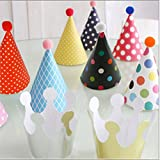 11Stilvolle Krone Happy Birthday Party Silber-schimmernden Glanz Papiermembran Hüte Fun Game