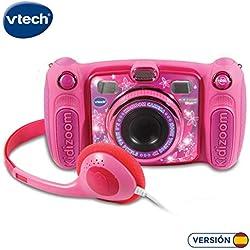 VTech-Kidizoom Duo 5.0, Appareil Photo numérique, Enfant avec 5mégapixels, écran Couleur, 10Fonctions différentes, 2objectifs (3480-507157) Rose