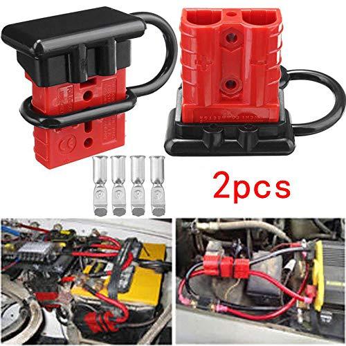 Turspit Kit di Collegamento rapido per Batteria 2 Pezzi Connettore per Cavo di Cablaggio 50A Disconnect Winch Trailer (#1)