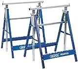 Draper 54053telescopico per sega o Builders cavalletti coppia, blu