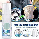 Gmorosa eco Detergent Powder Spray Dry Cleaning Spray Powder Detergent Waterless Clothing Cleansing Foam Down Clothes Dry Cleaning Agent Convenience Down Jacket Spray