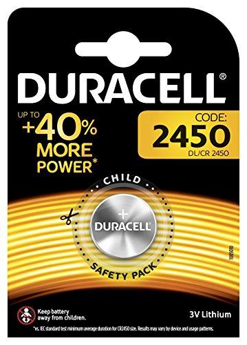 Duracell Specialty 2450 Lithium-Knopfzelle 3V, Einzelpackung (CR2450 /DL2450) entwickelt für die Verwendung in Schlüsselanhängern, Waagen, Wearables und medizinischen Geräten.