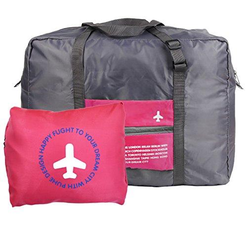 Milya Boardingtasche Reisetasche Handtasche Schultertasche/Umhängetasche die wasserfeste Nylontasche Kleidung Aufbewahrungstasche für Reise beweglicher Beutel Rose Red