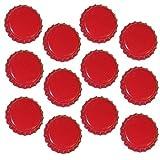 Dekohelden24 1000 Kronkorken Rot - Neu - ungestanzt - Zum Bier Selber brauen und Zum Verschließen jeglicher Standartflaschen und Mehrwegflaschen
