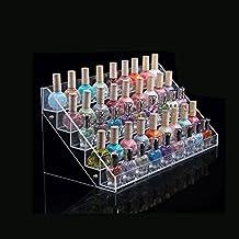Cris Nails® Soporte Expositor Organizador de 5 Niveles en Acrílico para Esmalte de Uña con 5 niveles de (40*19*20)