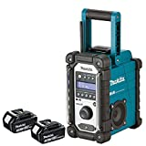 Makita DMR109 10.8v-18v LXT/CXT LI-ion Job Site Radio With 2 x BL1830 3.0Ah Batteries