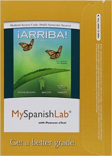 MyLab Spanish with Pearson eText - Access Card - for !Arriba!: comunicacion y cultura, 2015 Release (Multi-semester)