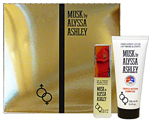 Alyssa Ashley Unisexdüfte Musk Geschenkset Eau de Parfum Spray 25 ml + Hand & Body Lotion 100 ml 1 Stk.