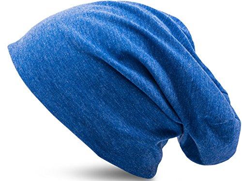 ebcb5b4119177e Jersey Baumwolle elastisches Long Slouch Beanie Unisex Mütze Heather in 35.