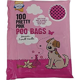 Armitage Good Boy Pretty Pink Dog Poo Bags – Pack of 100 51M9S8W 2B4gL