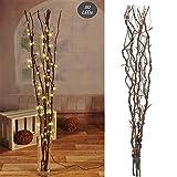 Lichterzweige mit 80 LEDs braun Beleuchtung Lichterkette Leuchtzweig Dekoration Lichter Zweig