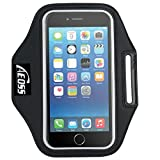 "Aeoss A107 Sports Running Jogging Gym Armband Case Cover Holder Compitbale for all smart phones till 5.5"" inch iphone 6 plus , Samsung Note 3 ."