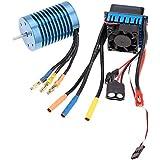GoolRC 3650 4370KV 4P Sensorless Brushless Motor con 45A Brushless ESC (variador eléctrico) para coche todo terreno RC 1/10