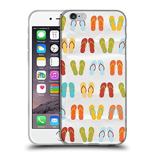 "Super Galaxy TPU Gel Funda Carcasa Tapa Case Cover para // V00000403 Sandali colorati modello // Apple iPhone 6 6S 6G PLUS 5.5"""