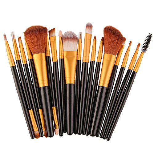18 SäTze Make-Up-Pinsel Makeup Brush Set Tools Make-Up Toiletry Kit Wool AugenbüRste LippenbüRste GesichtsbüRste GrundierungsbüRste Make-UpbüRste Pinselset
