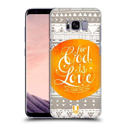 Head Case Designs Liebe Bekannten Versen Aus Der Bibel Ruckseite Hülle für Samsung Galaxy S8