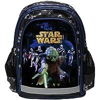 Star Wars, Maxi&Mini - Zaino cartella per la scuola di Star Wars, Guerra dei Cloni, con Yoda e Darth Fener, novità - Mega Crayon