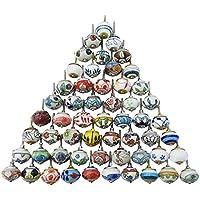 Assortiment Multi Color Ceramic Tiroirs Boutons de porte Armoires Poignées indiennes Mix Boutons