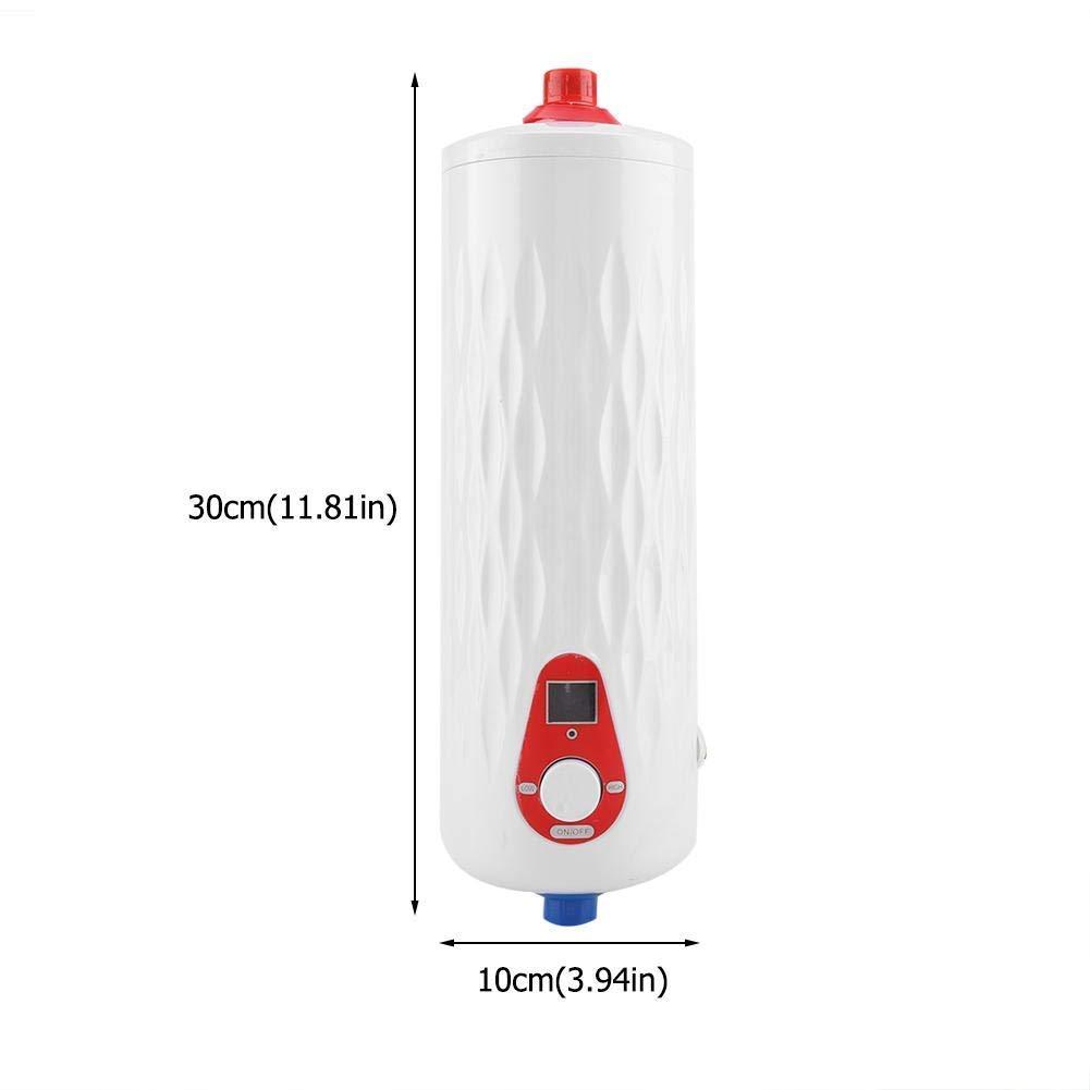 Rojo Fdit Mini Calentador de Agua Instant/áneo El/éctrico sin Tanque con V/álvula de Alivio de Presi/ón 220V 3000W para Cocina Ba/ño