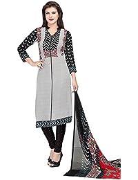 A K Designer Women's Chiffon Dress Material (Mehak10005_Free Size_Grey)