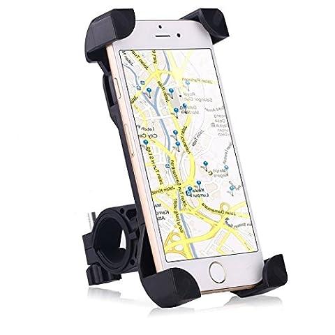 Fahrrad Handyhalterung, Kenove Anti-Rutsch Universal Handy Halterung Outdoor Fahrradhalterung Fahrrad Lenker 360° Drehbare Handyhalterung Handy GPS Halter für iPhone 5 5S 6 6s 7 Samsung S3 S4 S5 S6 S7 Edge Sony Huawei HTC LG