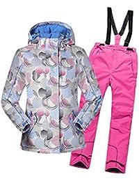 LSERVER Mädchen Skianzug 2 teilig Skijacke + Skihose