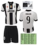 Completo Juventus Higuain 9 Replica Ufficiale 2016-2017 Tutte le Taglie (M)